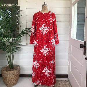 Vintage David Brown Bell Sleeve Caftan Dress